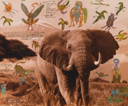 Peter Beard-Mt. Kilimanjaro (Mountain Of Slave Caravans) . . . Now Home Of The Elephant Problem Amboseli + Beyond'-1998