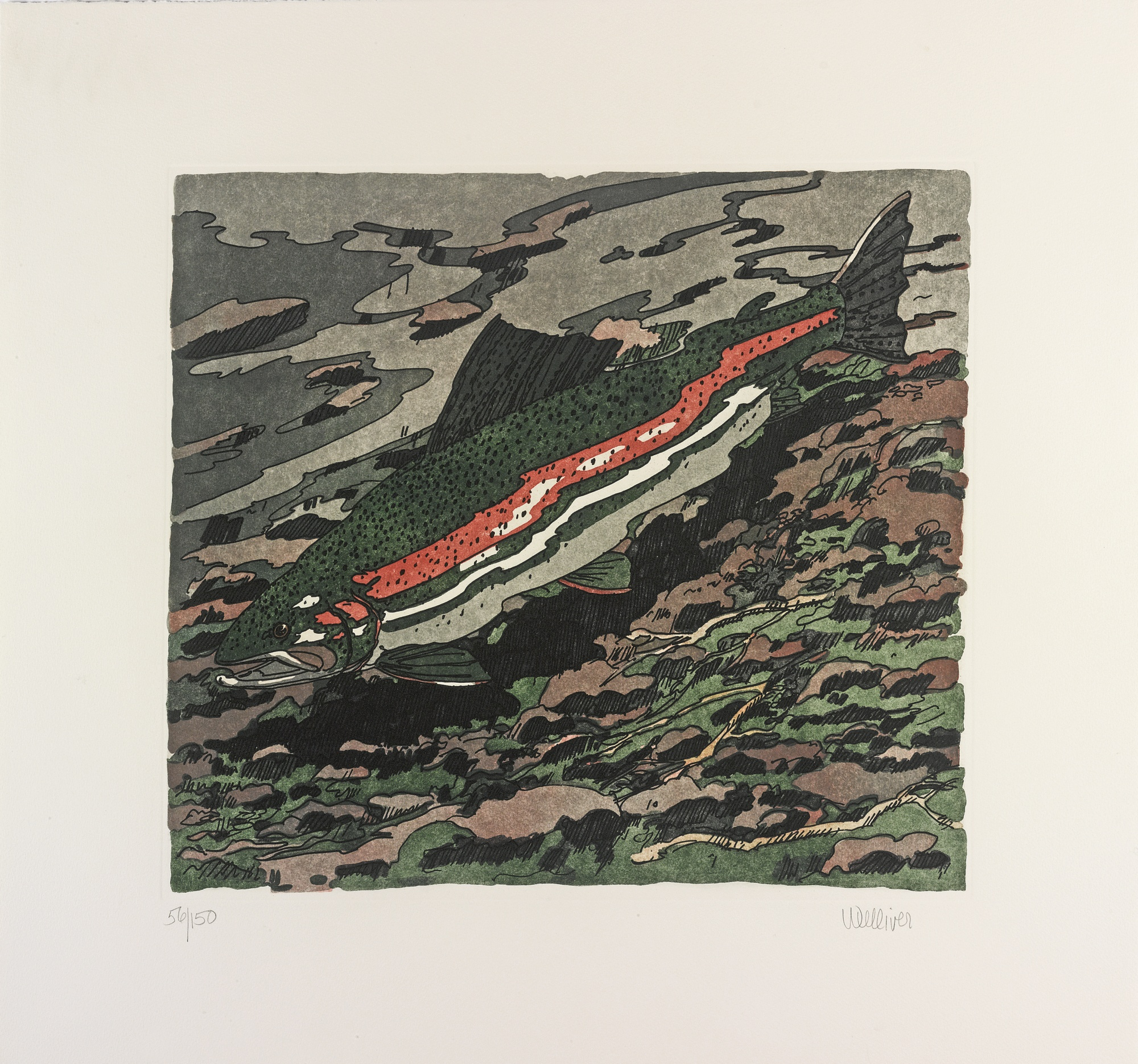 Neil Welliver-Winter Rainbow Trout-1983