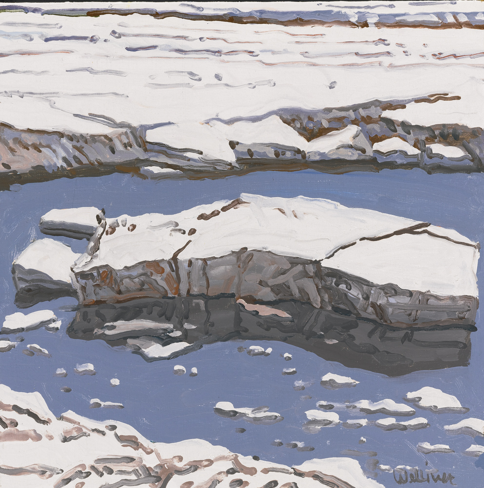 Neil Welliver-Study For Ice Flow Allagash-1996