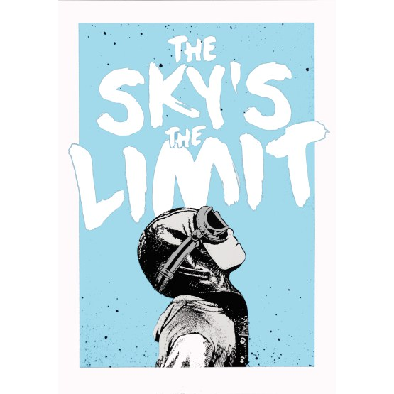 NME-The Sky's The Limit Print (Silver)-