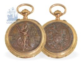 Pocket watch: extremely rare and early marksmen watch