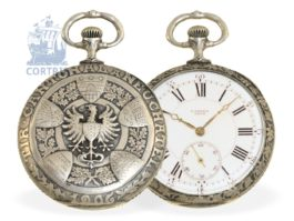 Pocket watch: very rare Art Nouveau marksman watch