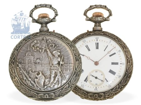Pocket watch: rare Geneva marksmen watch Grand Tir De Geneve 1896, Omega/Louis Brandt & Frères 1896-