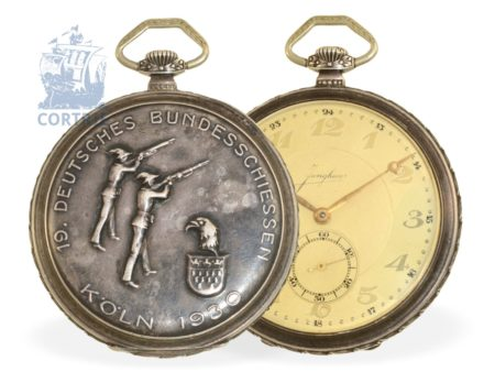 Pocket watch: Art Deco marksmen watch, 19th German shooting matches Cologne 1930, Junghans-