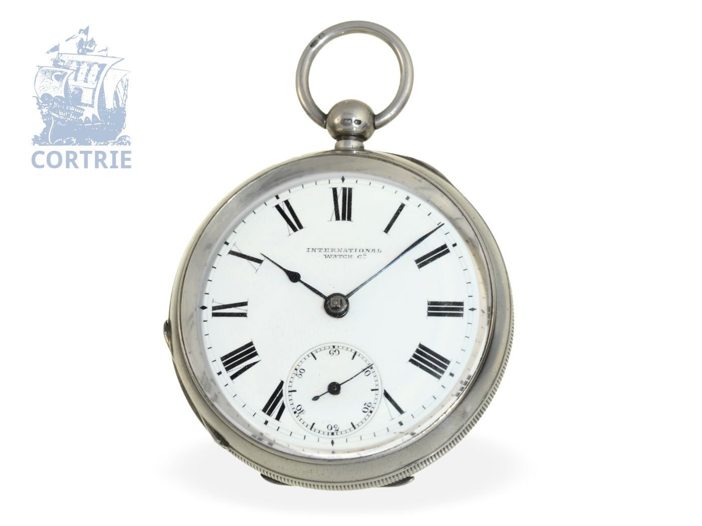 Pocket watch: very rare and early IWC watch for the English market, full plate movement Seeland no. 11014, ca. 1885-