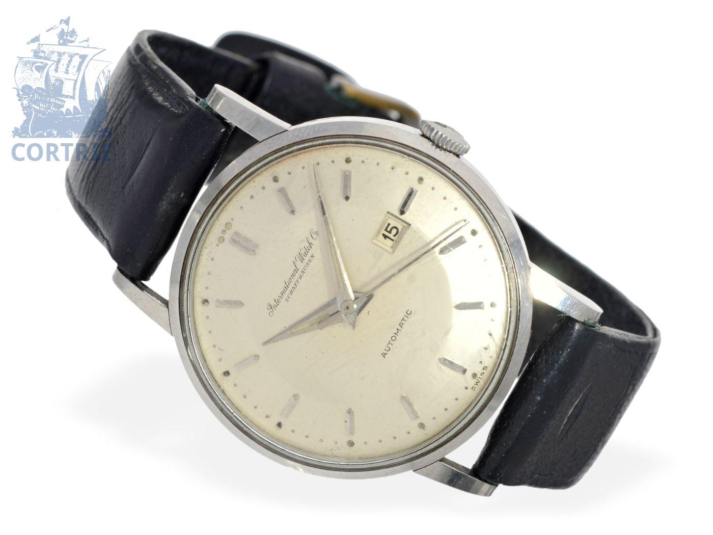 Wristwatch: fine gentlemen's watch IWC Automatic, stainless steel, 1958-
