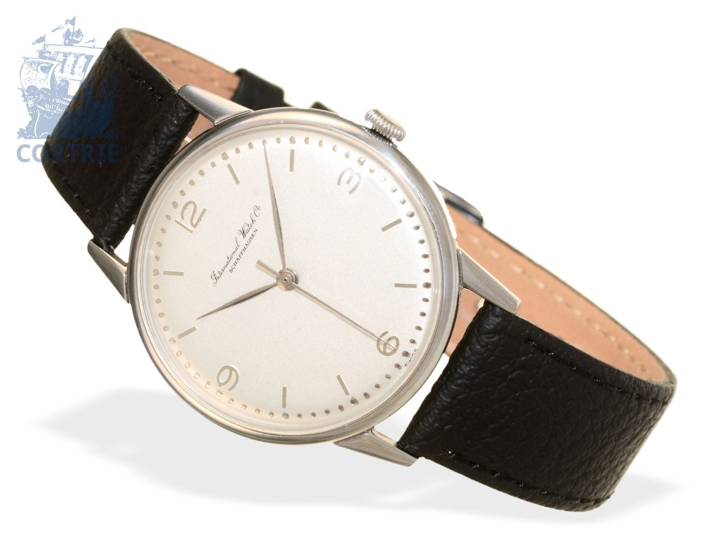 Wristwatch: elegant and fine IWC caliber 89 with center seconds, Schaffhausen 1954-