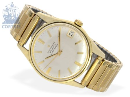 Wristwatch: rare automatic chronometer Zenith Waterproof, gold-plated, from the 60s-