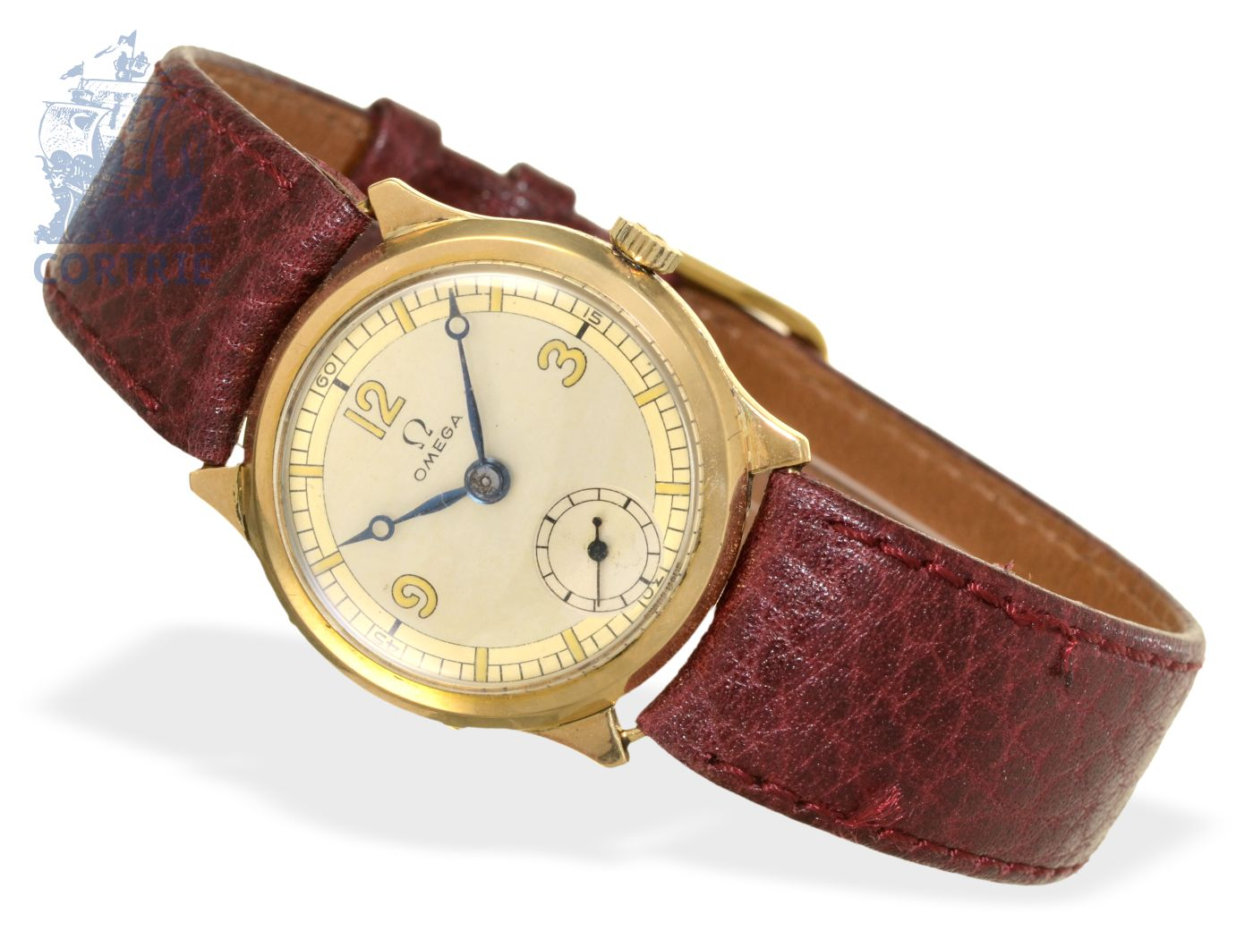 Wristwatch: early and small 18 K gold gentlemen's watch by Omega, from 1935-
