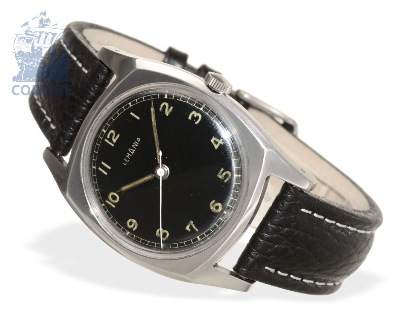 Wristwatch: rare Lemania pilot's watch from the 40s-