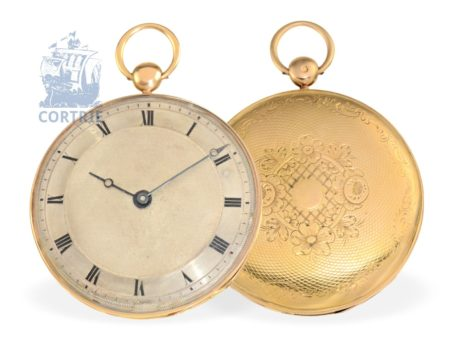 Pocket watch: fine and big French Lepine with cylinder escapement, Royal watchmaker Le Roy No. 14208, Paris ca. 1825-