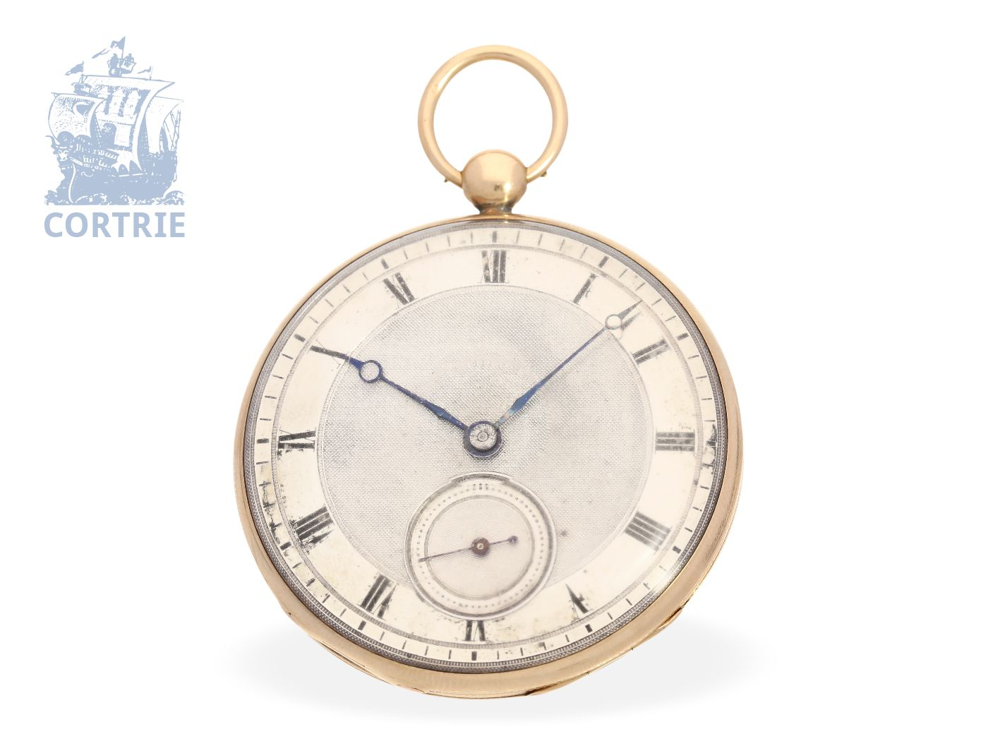 Pocket watch: French 18K pink gold Lepine, ca. 1820, probably original box-