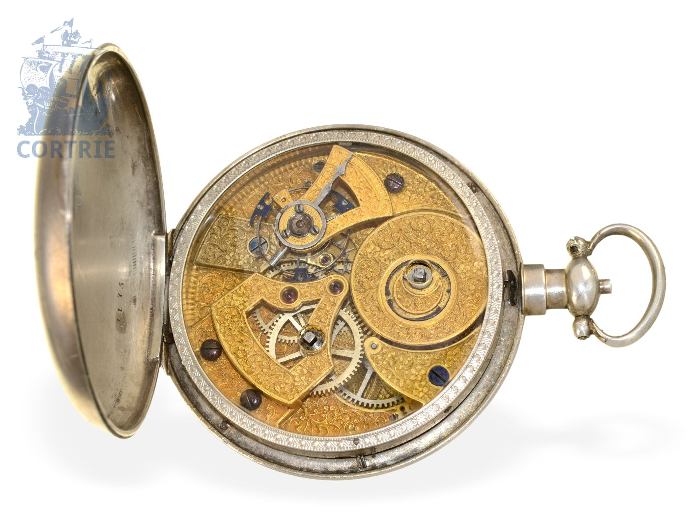 Pocket watch: very rare and big pocket watch with 8-days-movement, duplex escapement and Chinese signature, made for Chinese market, attributed to Piguet & Meylan, ca. 1840-