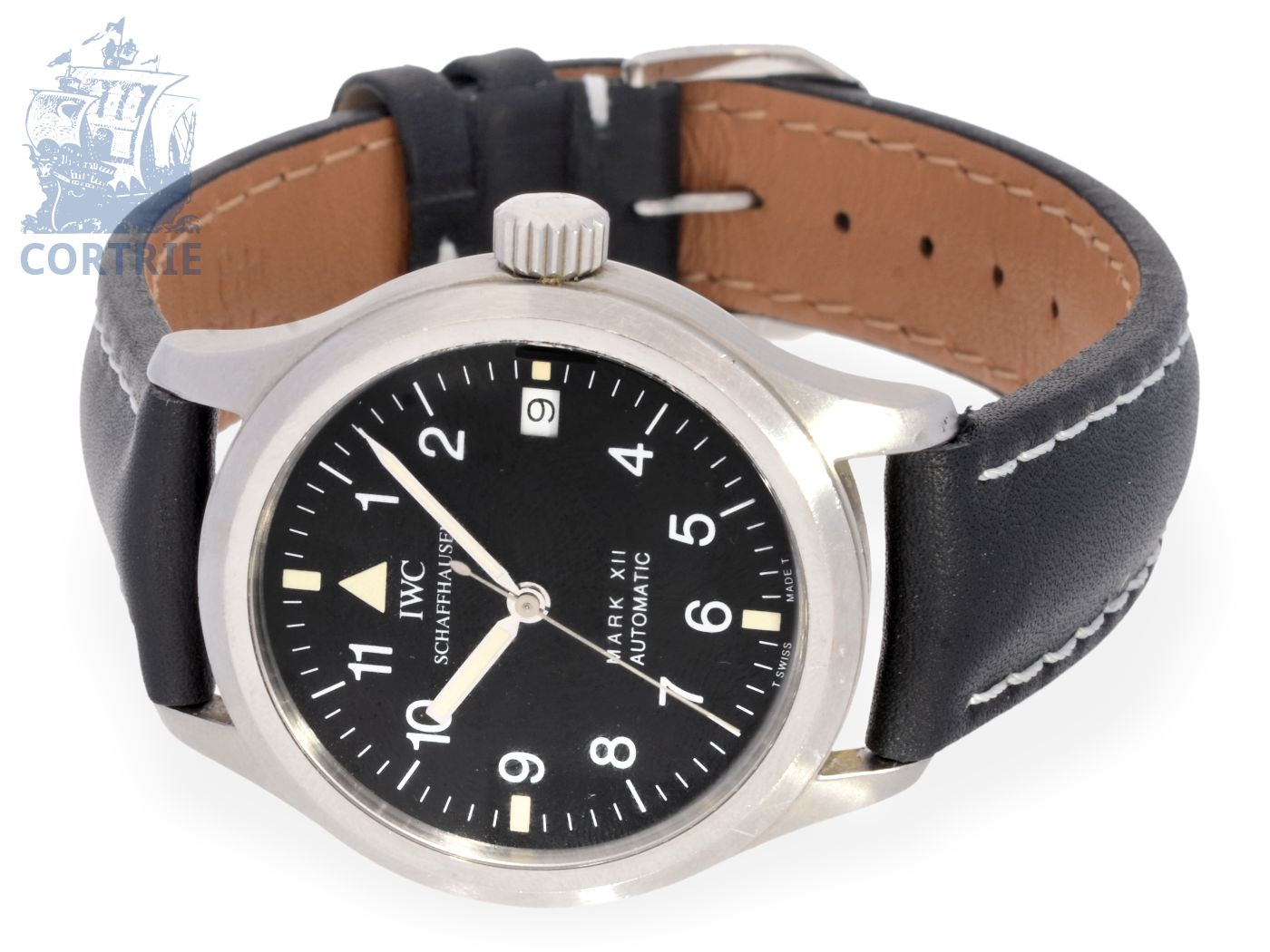 Wristwatch: automatic pilot's watch, IWC Mark XII reference 3241-