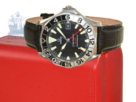Wristwatch: rare and high-grade diver's watch, Omega Seamaster Chronometer GMT 50-Years, ca. 2003-