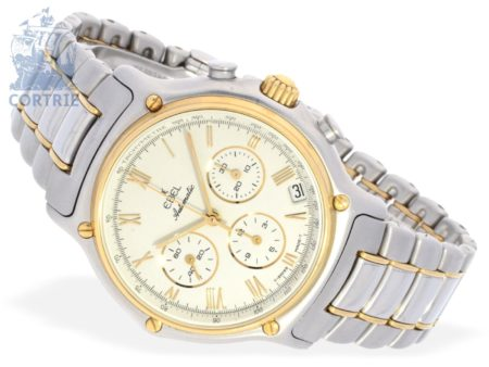 Wristwatch: high-grade sportive gentlemen's chronograph, stainless steel/gold, Ebel Automatic Ref.1134801-