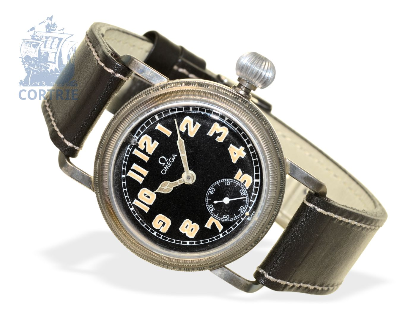 Wristwatch: extremely rare Omega pilot's watch ref. CK 700AD, ca. 1925-