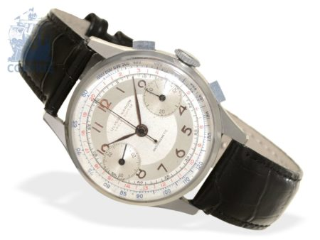 Wristwatch: very fine and early Ulysse Nardin stainless steel chronograph caliber 22, from the 40s-