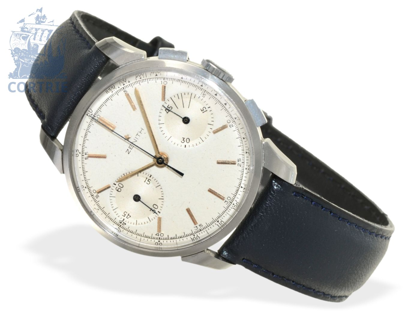 Wristwatch: big Zenith tachymeter chronograph, stainless steel, ca. 1960-