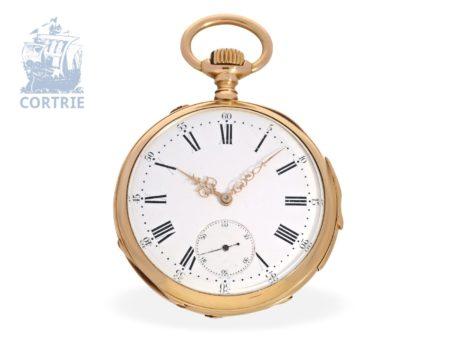 Pocket watch: very fine precision pocket watch repeater, prime quality DEMI CHRONOMÈTRE, Dubois & Leroy Le Locle ca. 1880-
