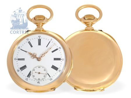Pocket watch: high-grade pinko precision pocket watch with rare 5-minutes repeater, attributed to Le Coultre ca. 1900-