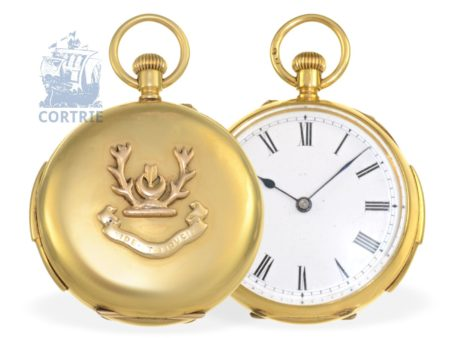 Pocket watch: very rare and unusual small repeater, prime quality, signed Benson London, ca. 1890-