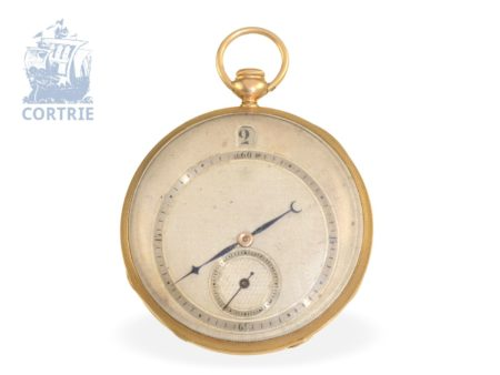 Pocket watch: technical interesting and high-quality Lepine repeater with jumping hours, Breguet's trainee Giteau No.1785, Paris ca. 1820-