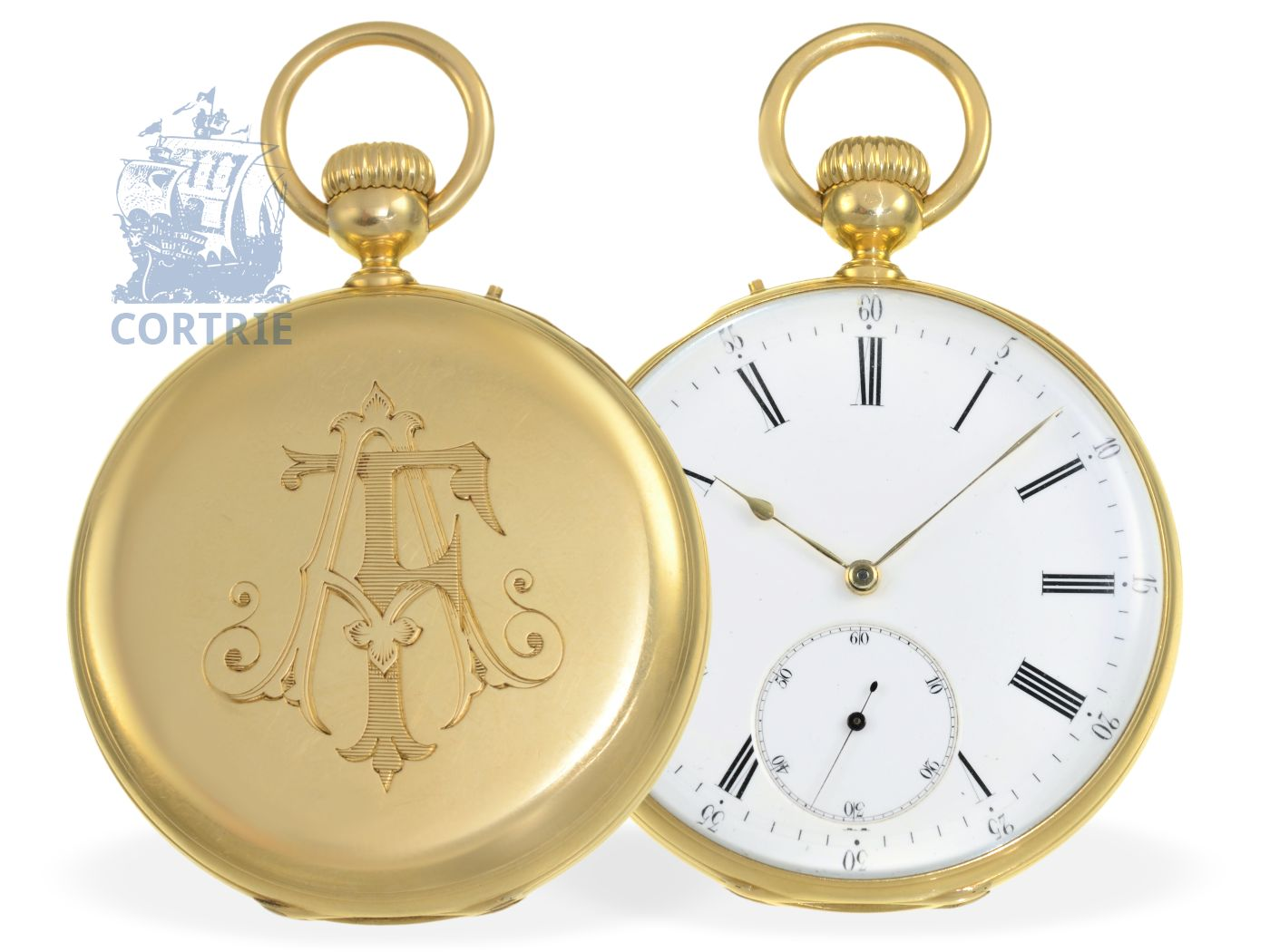 Pocket watch: French Ankerchronometer, prime quality, Breguet's trainee Charles Oudin No.21583, ca. 1865-