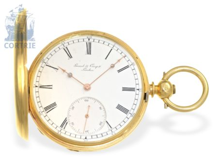 Pocket watch: extremely rare and extravagant pocket watch chronometer with 3 bars movement, Constantin Girard La Chaux-De-Fonds & London, ca. 1860-