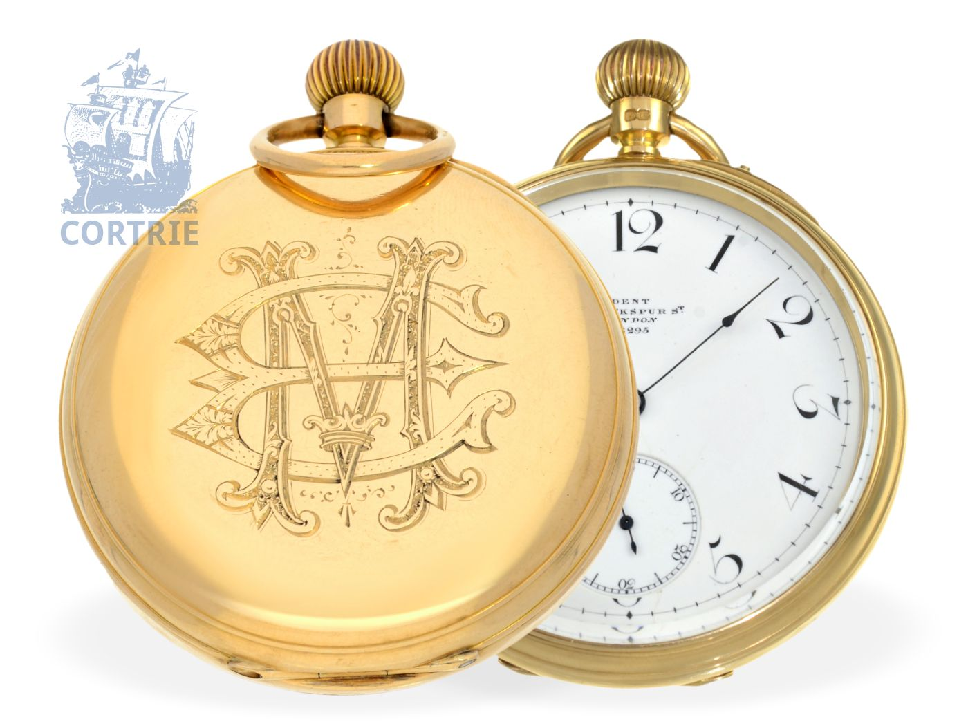 Pocket watch: heavy English precision pocket watch, Dent London no. 28295-
