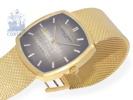 Wristwatch: very fine automatic gentlemen's watch, solid 18 K gold, Vacheron & Constantin Cushion, from the 1960s-