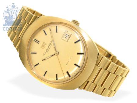 Wristwatch: rare and heavy IWC Automatic Monocoque, 18 K gold, 1970s, original box-