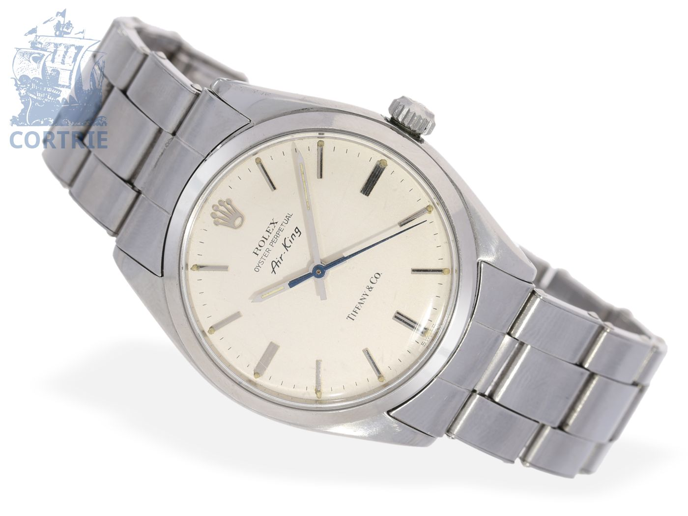 Wristwatch: rare vintage Rolex Air-King, steel, reference 5500, special model for Tiffany & Co. New York, from the 70s-