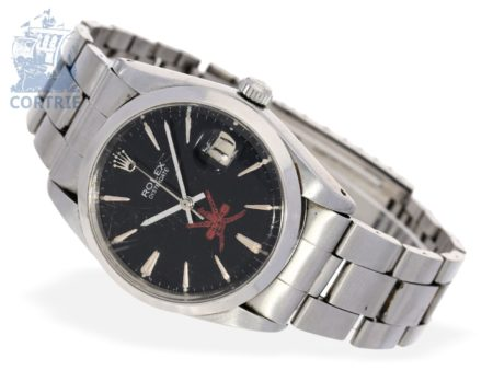 Wristwatch: vintage Rolex Oysterdate with special dial Sultan of Oman, probably from the 50s-