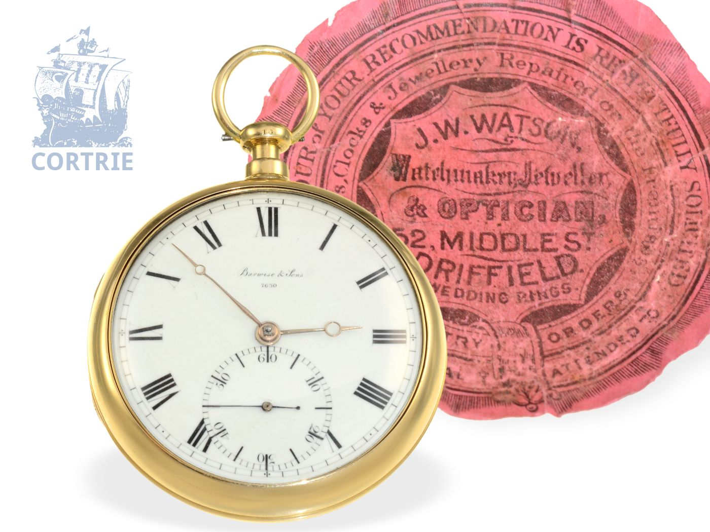 Pocket watch: heavy and rare English precision watch with duplex escapement, important watchmaker, Barwise London 1818-