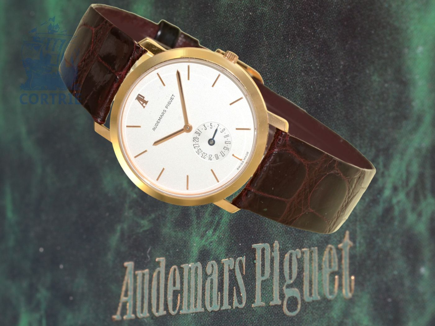 Wristwatch: very fine and elegant Audemars Piguet Classic, 18K pink gold, ref. OR25660, probably unused, with box and certificates-
