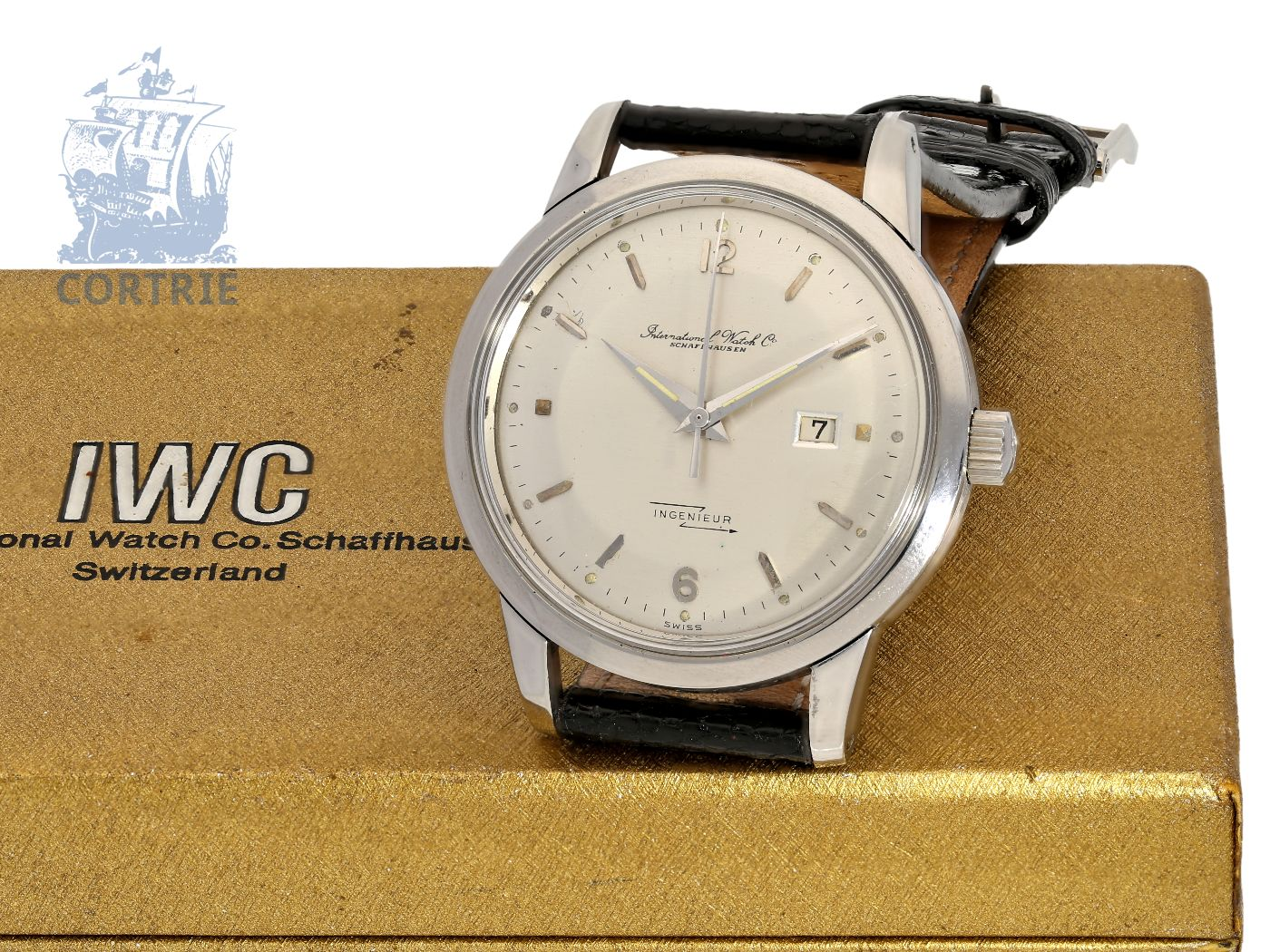 Pocket watch: fine and early IWC Ingenieur 8521, stainless steel, Schaffhausen 1955-