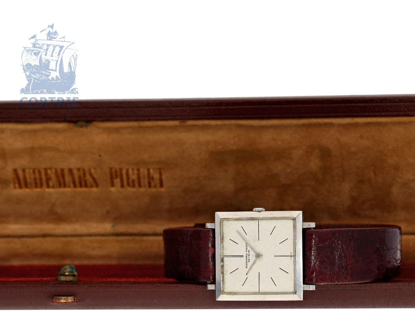 Wristwatch: very flat and rare vintage gentlemen's watch by Audemars Piguet, legendary caliber 2003, Geneva 1956-