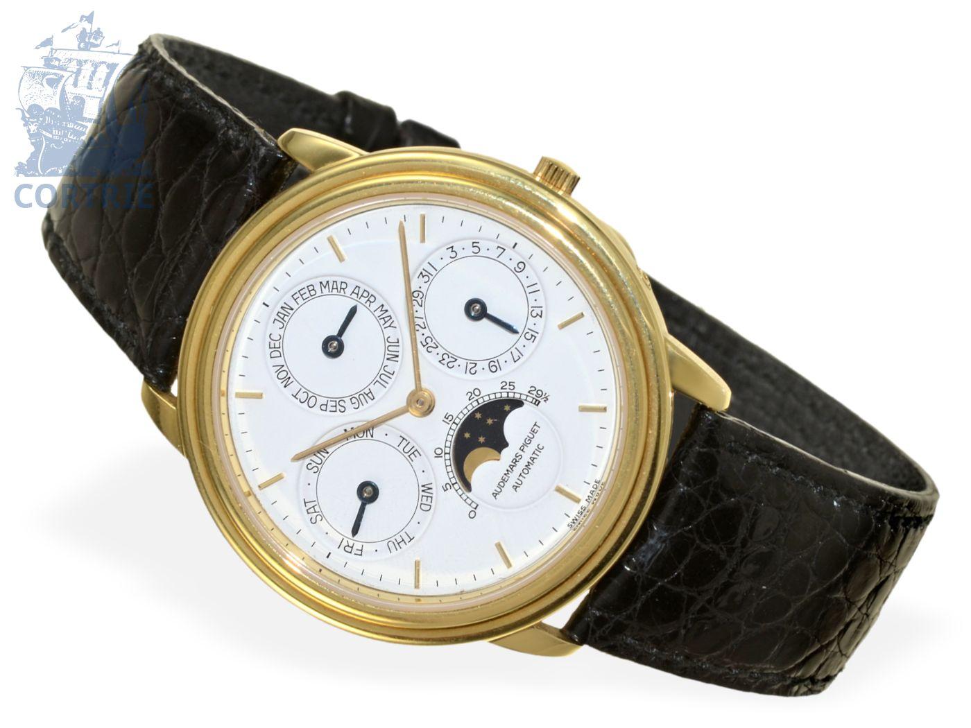 Wristwatch: elegant, very fine and limited astronomic gentlemen's watch Audemars Piguet QUANTIEME PERPETUEL AUTOMATIQUE no.4133-