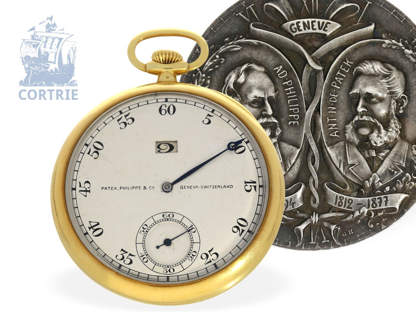 Pocket watch: Patek Philippe rarity, pocket watch with jumping hours, less than 10 pieces noted-