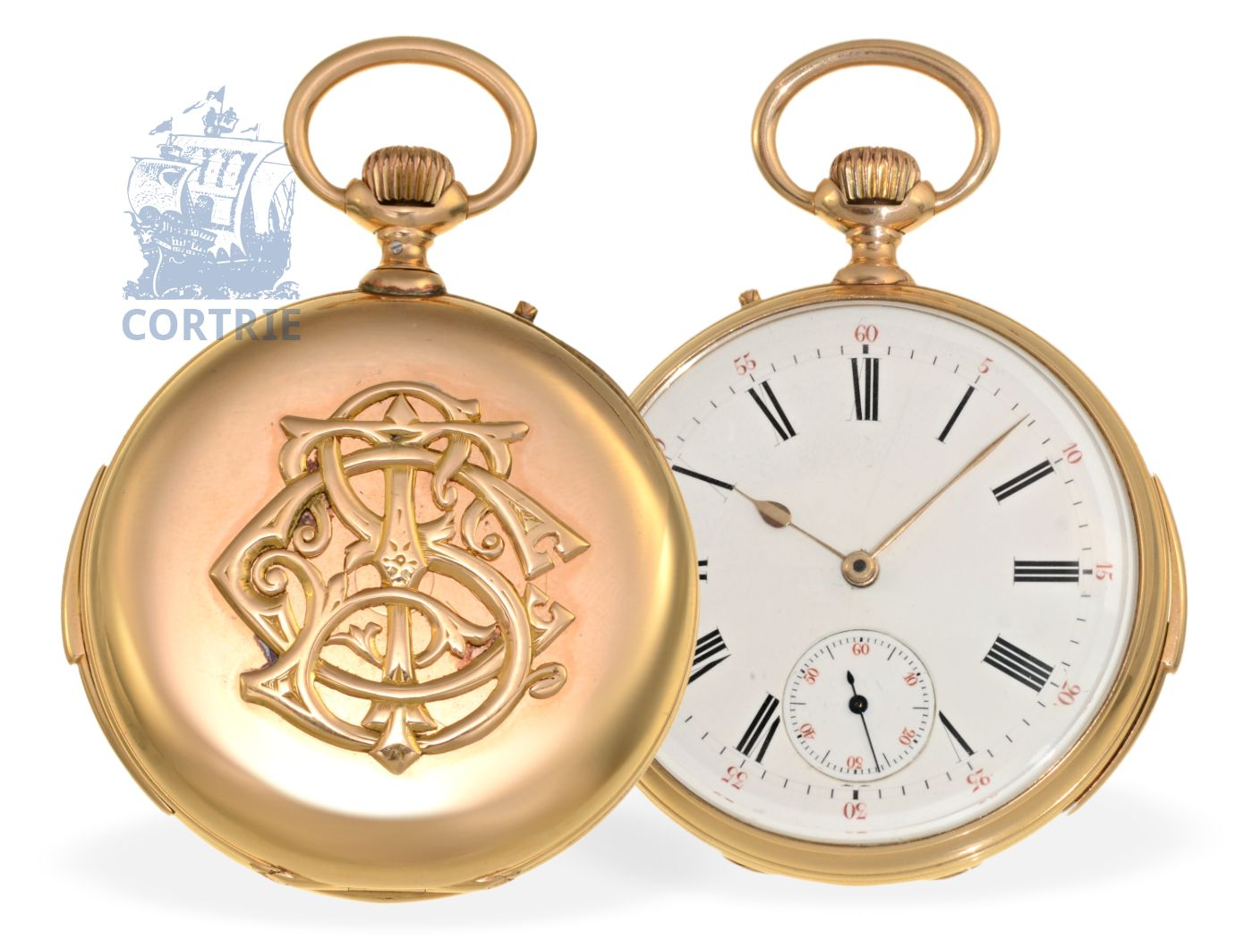Pocket watch: very rare pocket watch minute repeater, very fine quality, signed signiert Czapek & Cie à Genève ca.1875, Napoleons servant of the court-