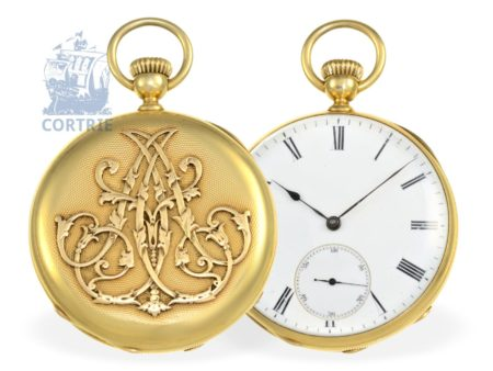 Pocket watch: very early and fine Patek Philippe Ankerchronometer No. 27974, ca. 1865-