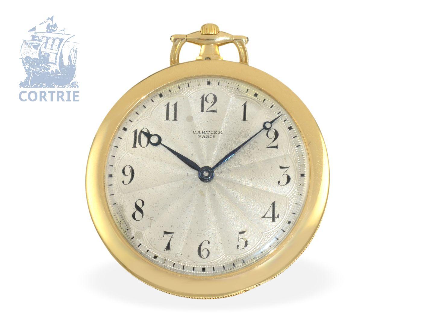 Pocket watch: very flat Art Nouveau dress watch Montre Couteau, original Cartier ca. 1910-