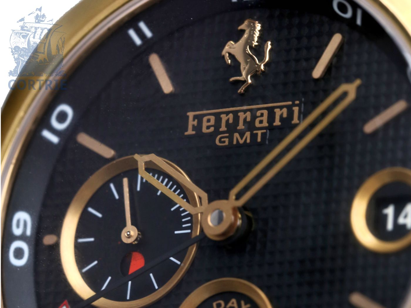 Wristwatch: high-grade and very rare limited Panerai Ferrari 8-Day GMT, 18 K pink gold, with original box and all certificates-