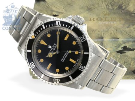 Wristwatch: rare and early gentlemen's watch Rolex Submariner Ref.5513, probably original box, very good condition, ca. 1970-