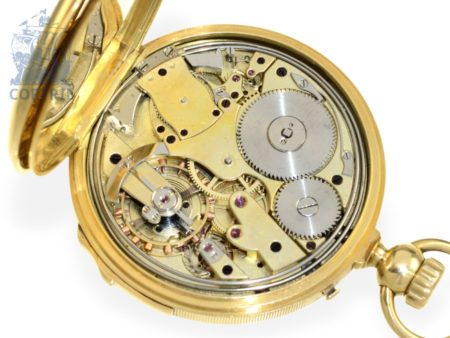 Pocket watch: early French repeater, crown winding, excellent quality, Breguet's trainee Couet a Paris no.3684, ca. 1855-