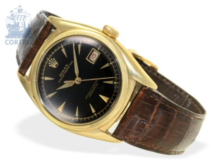 Wristwatch: extremely rare and early Rolex gentlemen's watch reference 6105 Red Date - Black Dial, ca. 1950-