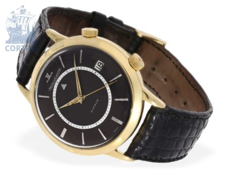 Wristwatch: very rare and big Jaeger Le Coultre Memovox, special model for Asprey, from the 50s-