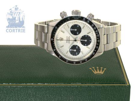 Wristwatch: popular vintage chronograph Rolex Daytona ref.6263 from 1974, excellent condition, with original box-