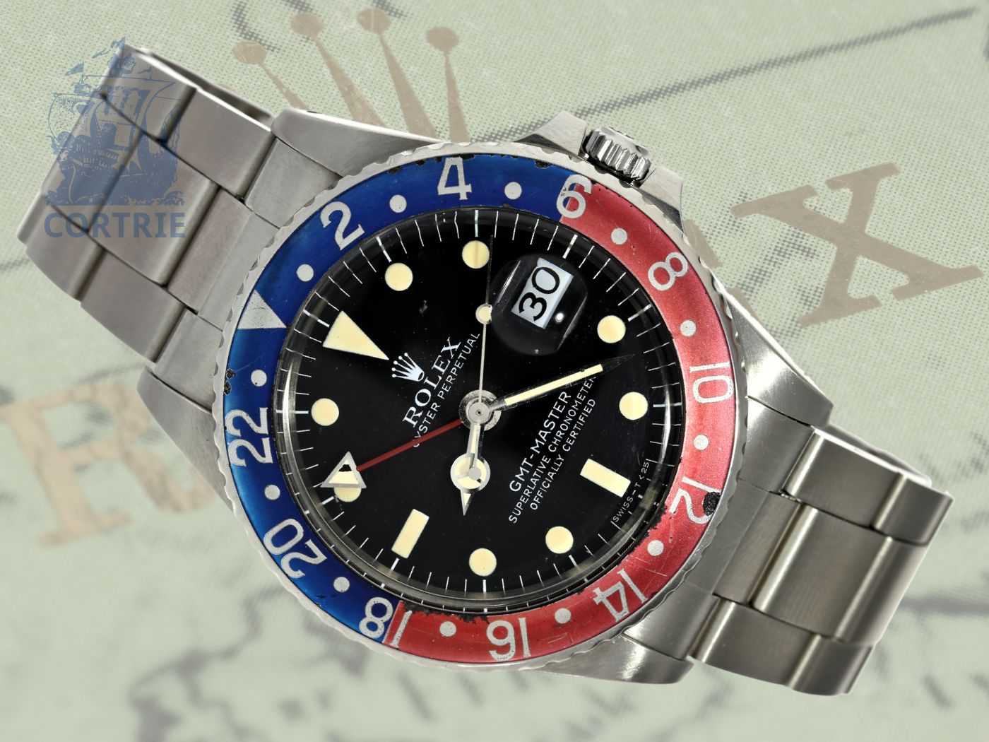 Wristwatch: extremely rare Rolex GMT Master ref. 1675 from 1968 with box and certificates-